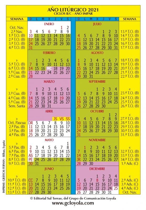 calendario liturgico espana